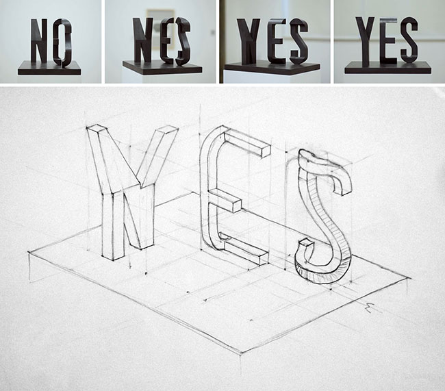 yes-no-sculpture